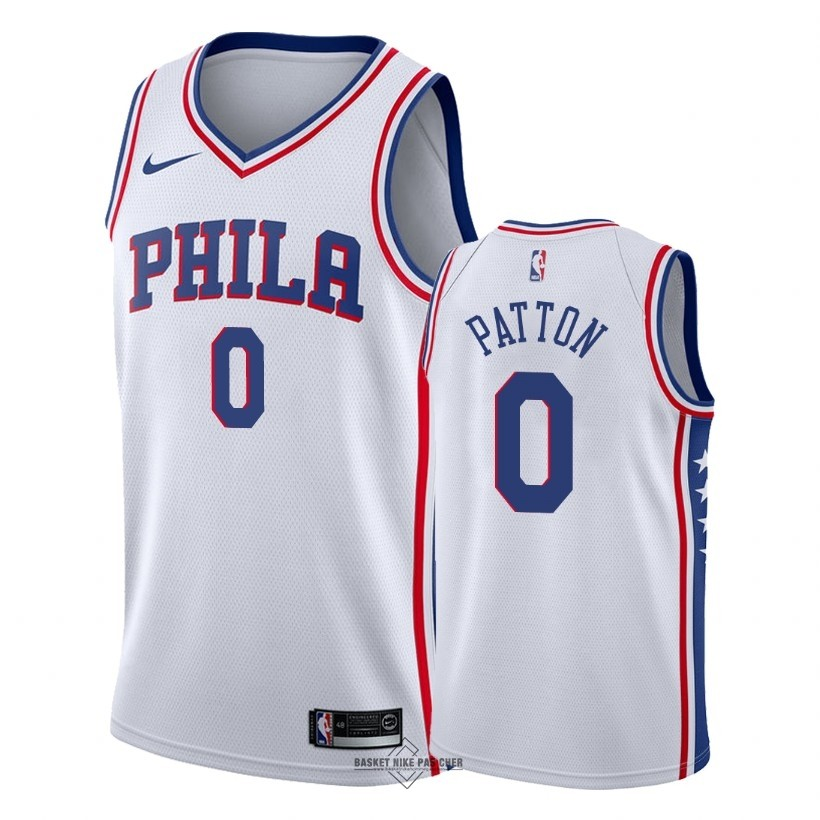 Maillot NBA Pas Cher - Maillot NBA Nike Philadelphia Sixers NO.0 Justin Patton Blanc Association 2018