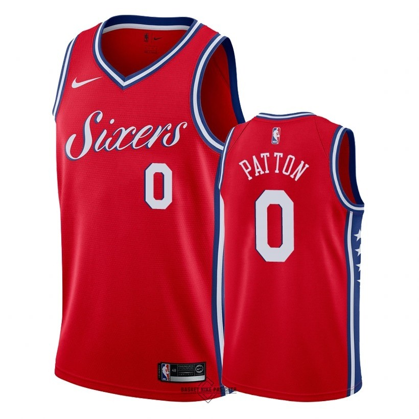 Maillot NBA Pas Cher - Maillot NBA Nike Philadelphia Sixers NO.0 Justin Patton Rouge Statement 2018