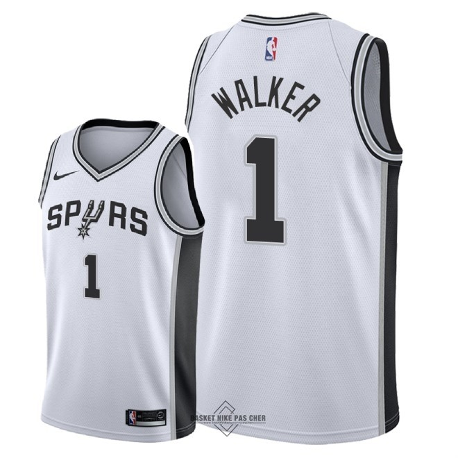 Maillot NBA Pas Cher - Maillot NBA Nike San Antonio Spurs NO.1 Lonnie Walker Blanc Association 2018
