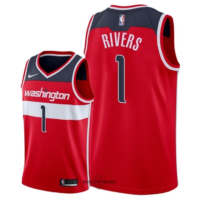 Maillot NBA Pas Cher - Maillot NBA Nike Washington Wizards NO.1 Austin Rivers Rouge Icon 2018