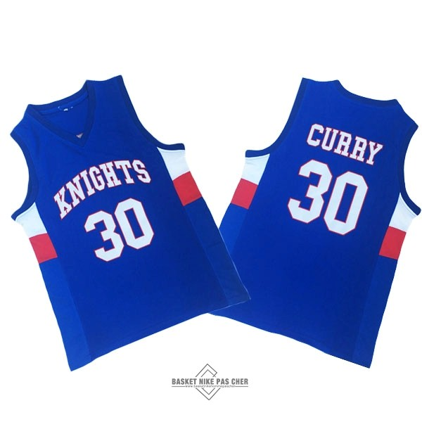 Maillot NBA Pas Cher - Maillot NCAA Knight High School NO.30 Curry Bleu