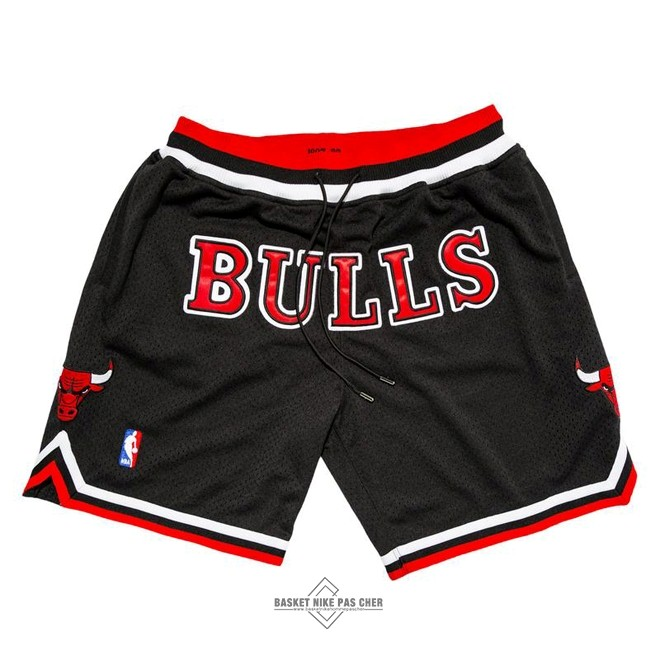 Maillot NBA Pas Cher - Short Basket Chicago Bulls Nike Retro Noir 2018