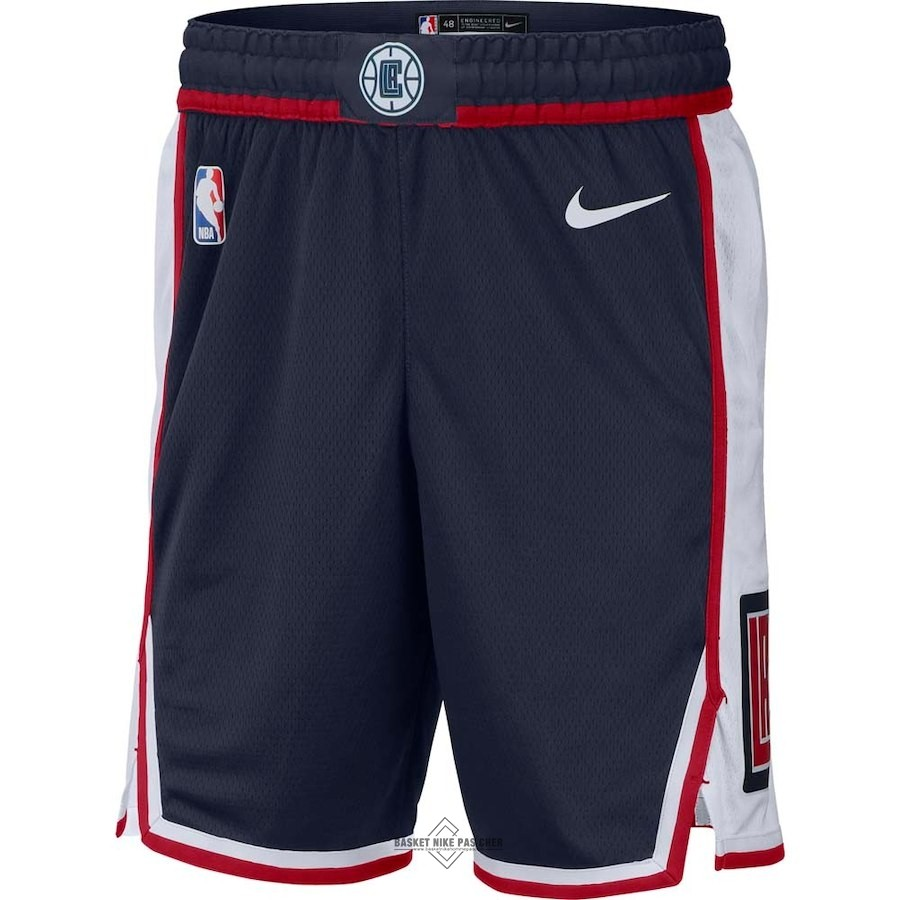 Maillot NBA Pas Cher - Short Basket Los Angeles Clippers Nike Marine Ville 2018-19