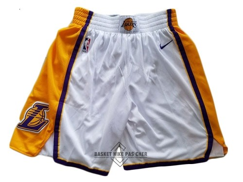 Maillot NBA Pas Cher - Short Basket Los Angeles Lakers Nike Blanc 2018