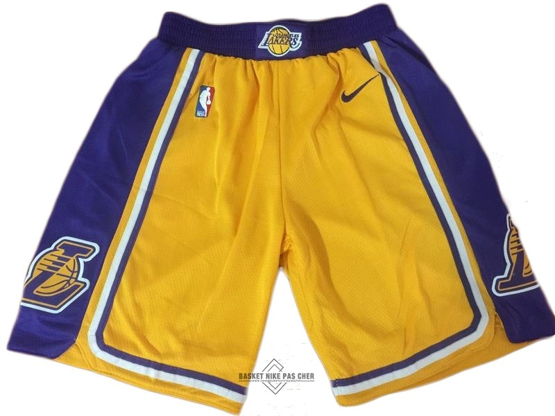 Maillot NBA Pas Cher - Short Basket Los Angeles Lakers Nike Jaune 2018-19