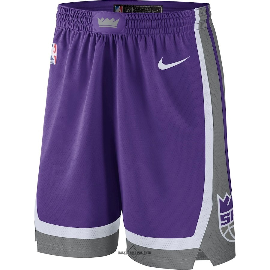 Maillot NBA Pas Cher - Short Basket Sacramento Kings Nike Pourpre Icon 2018