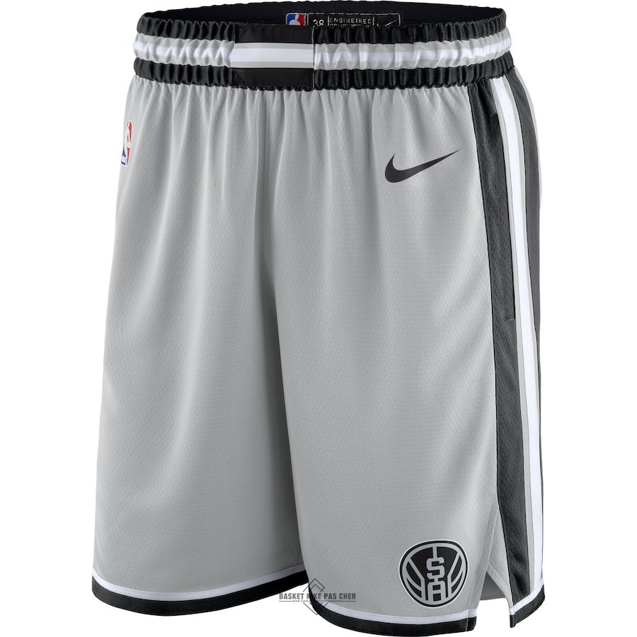 Maillot NBA Pas Cher - Short Basket San Antonio Spurs Nike Gris Statement 2018