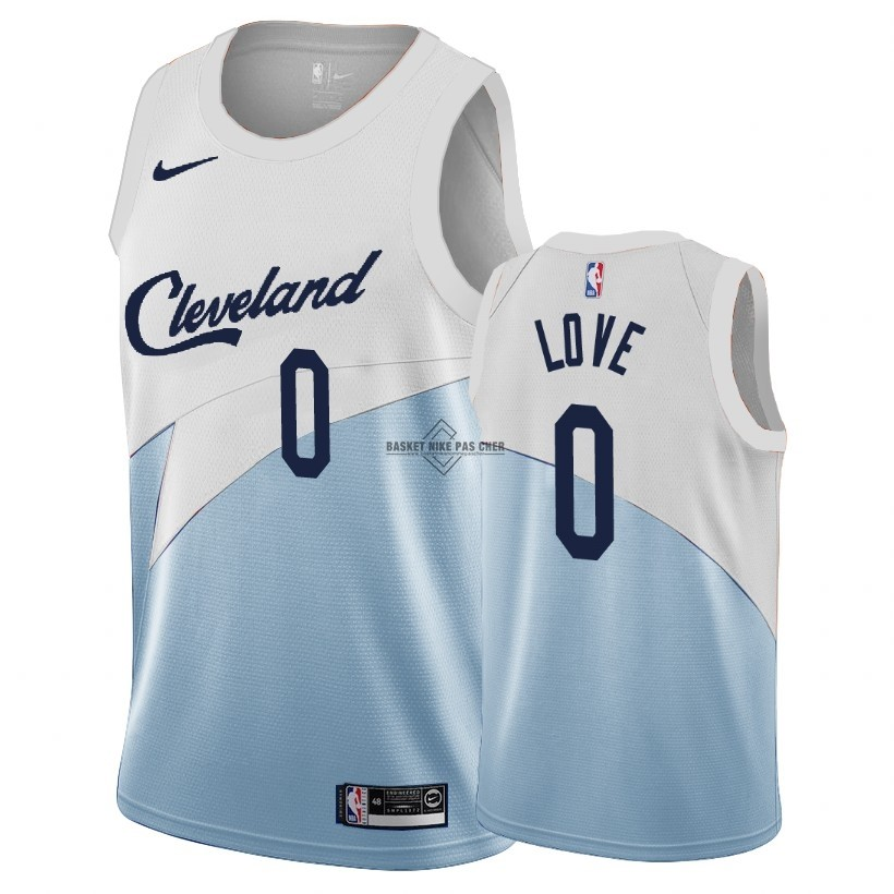 Maillot NBA Pas Cher - Maillot Earned Edition Cleveland Cavaliers NO.0 Kevin Love Bleu 2018-19