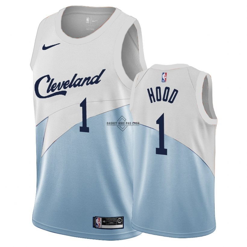 Maillot NBA Pas Cher - Maillot Earned Edition Cleveland Cavaliers NO.1 Rodney Hood Bleu 2018-19