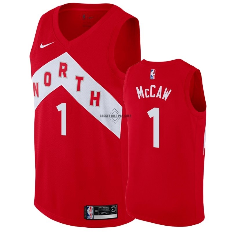 Maillot NBA Pas Cher - Maillot Earned Edition Toronto Raptors NO.1 Patrick McCaw Rouge 2018-19