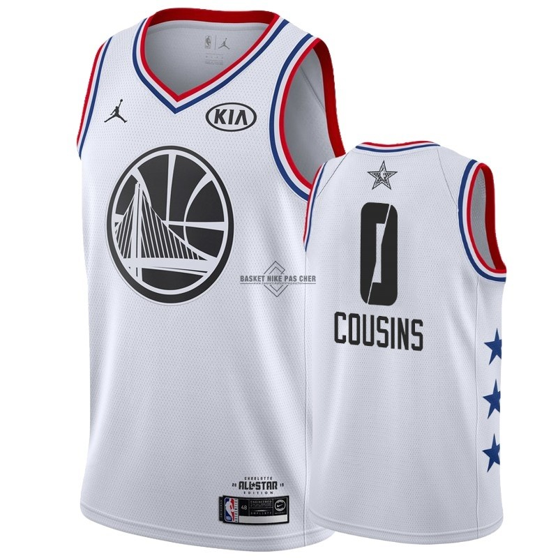Maillot NBA Pas Cher - Maillot NBA 2019 All Star NO.0 DeMarcus Cousins Blanc