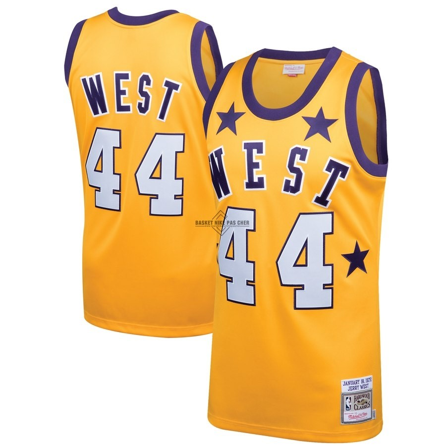 Maillot NBA Pas Cher - Maillot NBA All Star 1972 NO.44 Jerry West Jaune