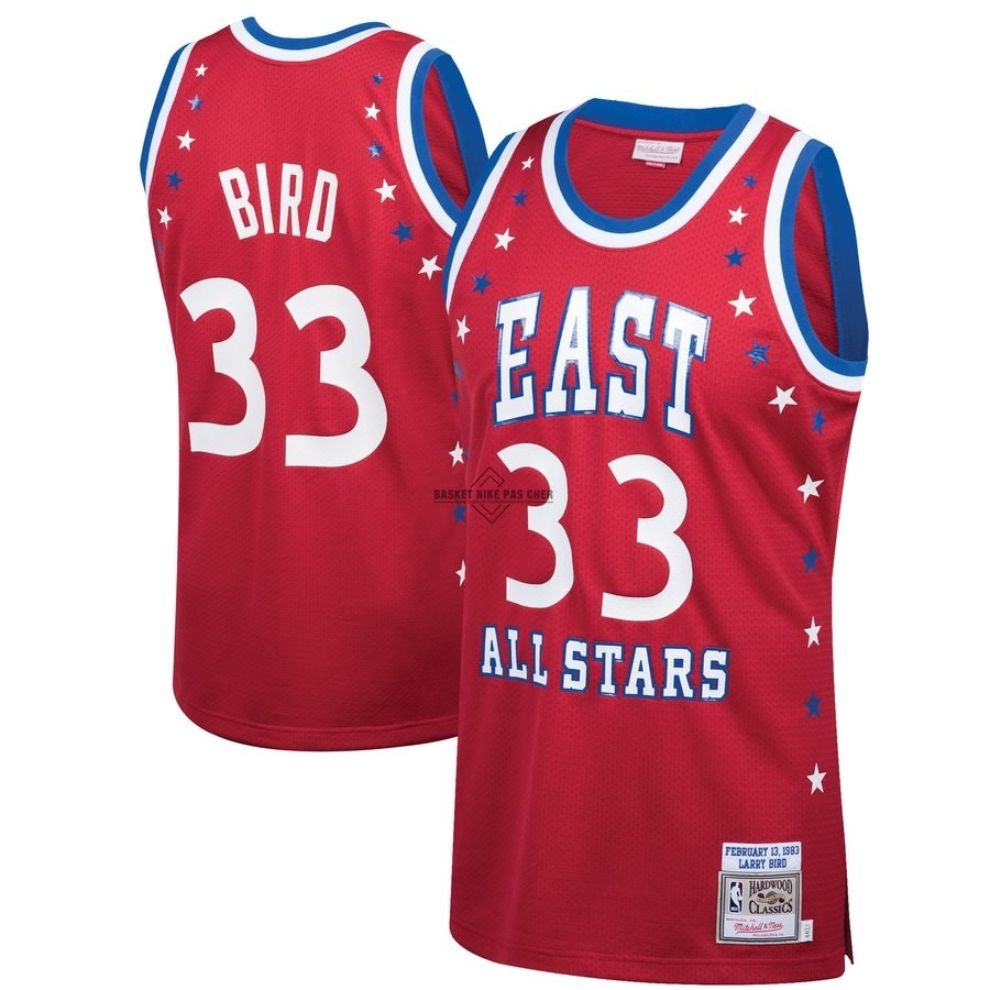 Maillot NBA Pas Cher - Maillot NBA All Star 1983 NO.33 Larry Bird Rouge