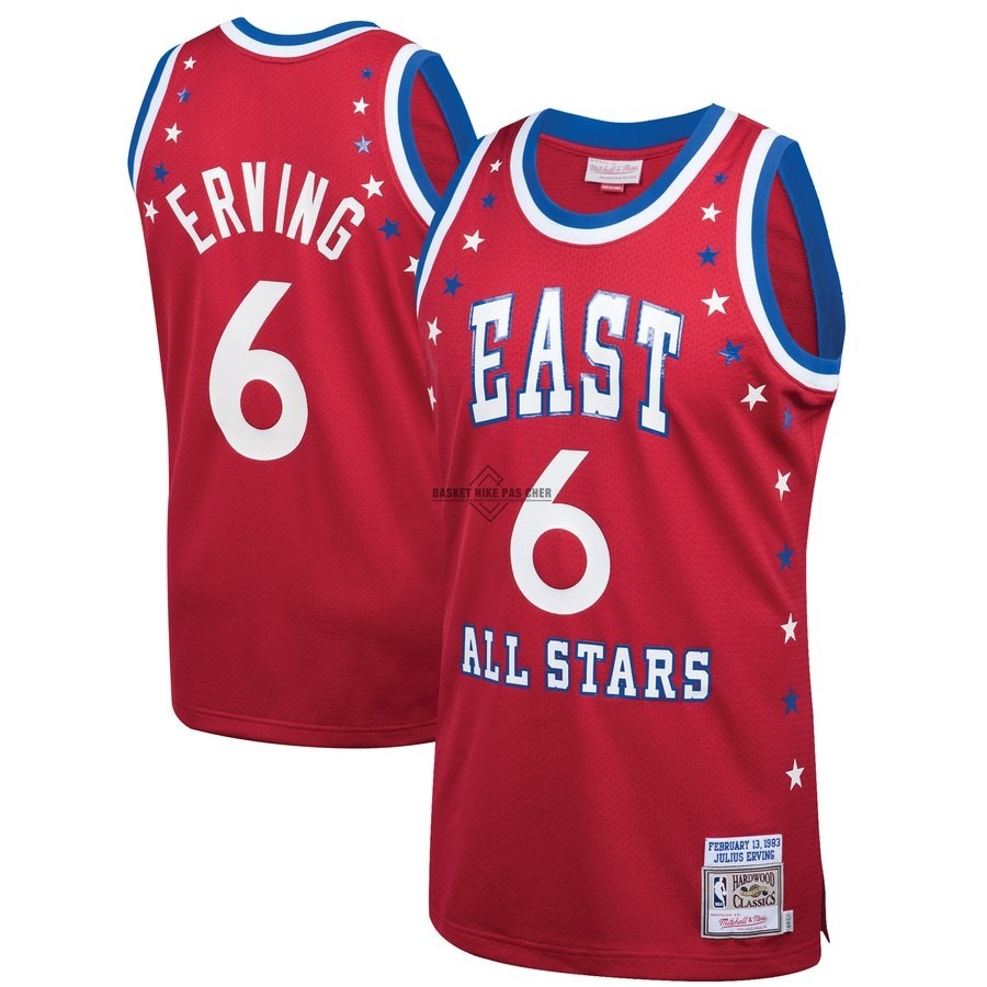 Maillot NBA Pas Cher - Maillot NBA All Star 1983 NO.6 Julius Erving Rouge