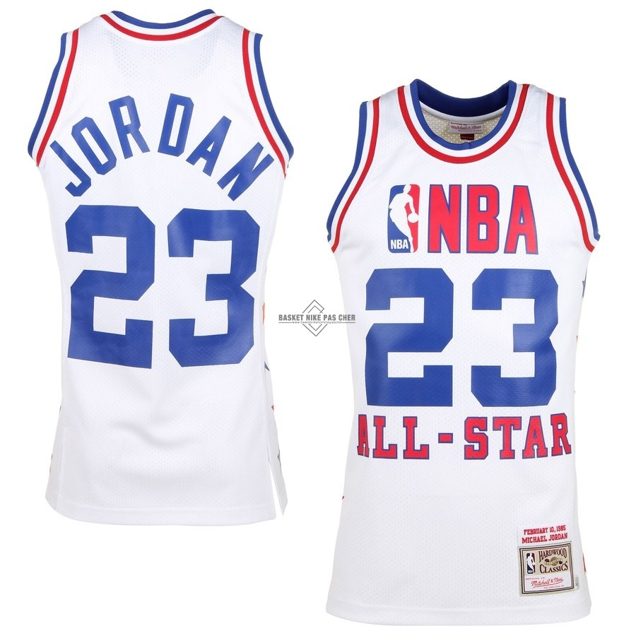 Maillot NBA Pas Cher - Maillot NBA All Star 1985 NO.23 Michael Jordan Blanc