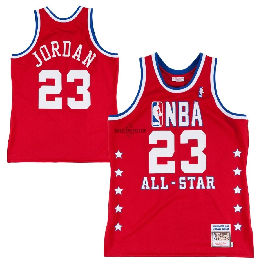 Maillot NBA Pas Cher - Maillot NBA All Star 1988-89 NO.23 Michael Jordan Rouge