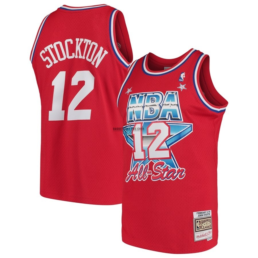 Maillot NBA Pas Cher - Maillot NBA All Star 1991 NO.12 John Stockton Rouge