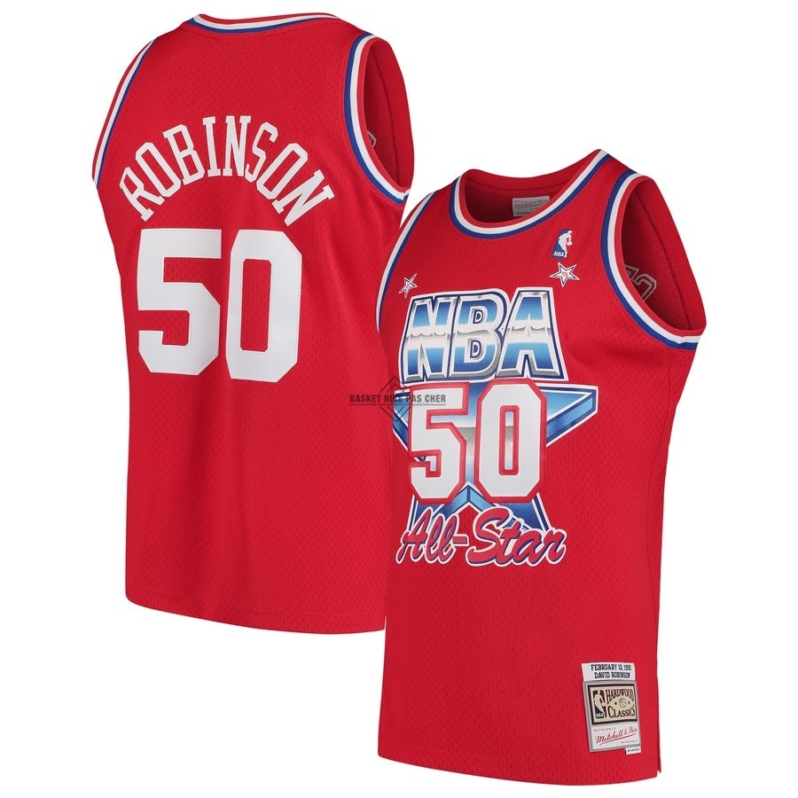 Maillot NBA Pas Cher - Maillot NBA All Star 1991 NO.50 David Robinson Rouge