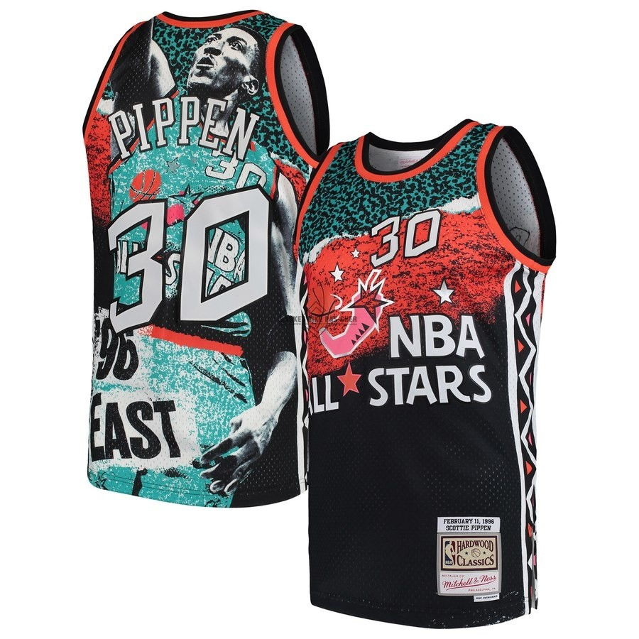 Maillot NBA Pas Cher - Maillot NBA All Star 1996 NO.30 Scottie Pippen Noir