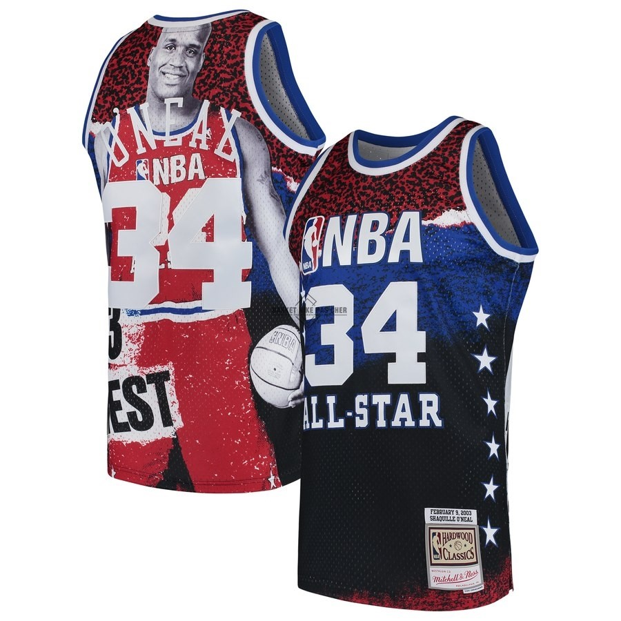 Maillot NBA Pas Cher - Maillot NBA All Star 2003 NO.34 ShaquilleO'Neal Rouge