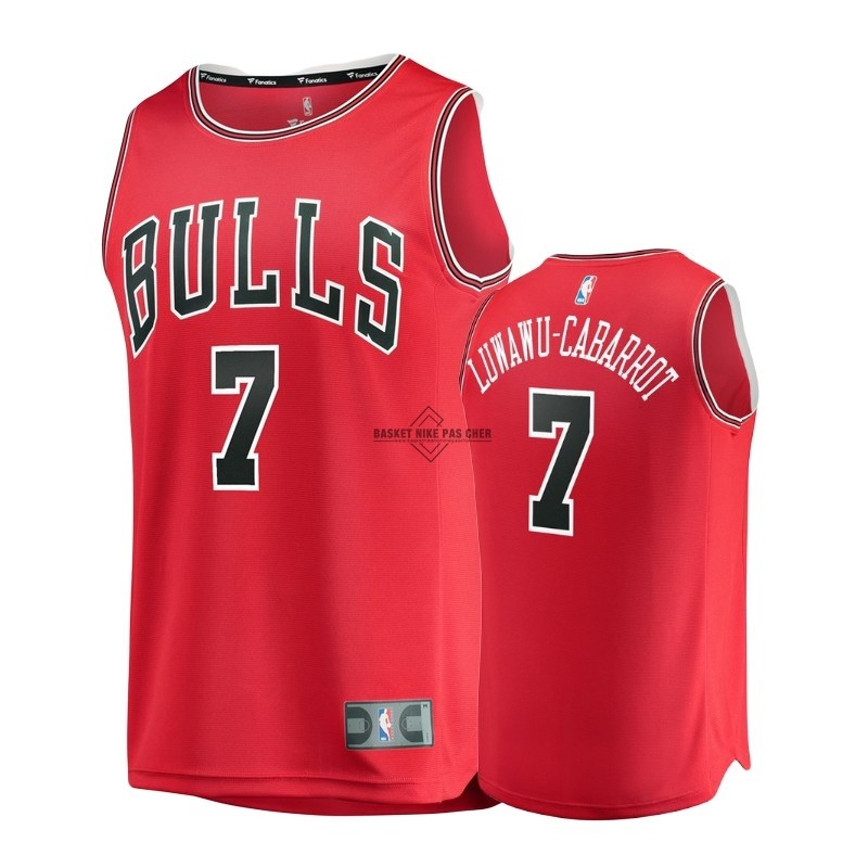 Maillot NBA Pas Cher - Maillot NBA Enfant Chicago Bulls NO.7 Timothe Luwawu Cabarrot Rouge Icon