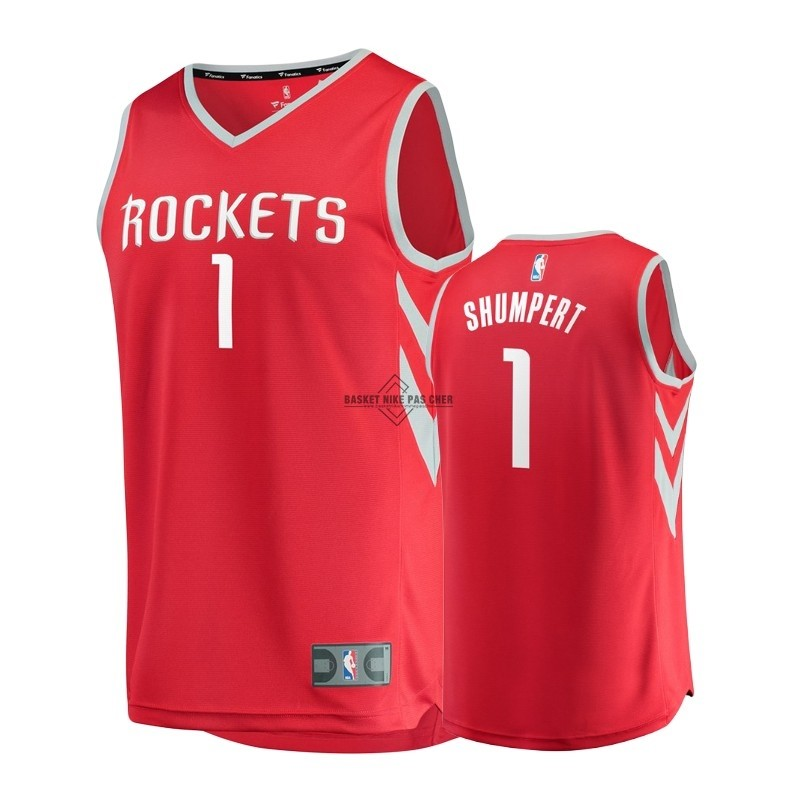 Maillot NBA Pas Cher - Maillot NBA Enfant Houston Rockets NO.1 Iman Shumpert Rouge Icon