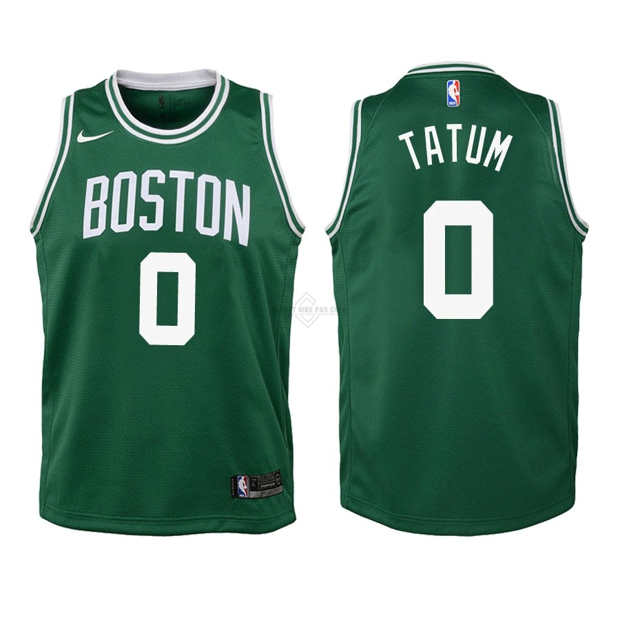 Maillot NBA Pas Cher - Maillot NBA Enfant Boston Celtics NO.0 Jayson Tatum Vert Icon 2018-19