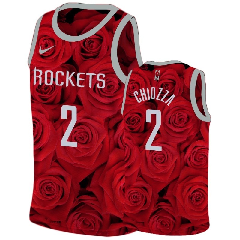 Maillot NBA Pas Cher - Maillot NBA Nike Houston Rockets NO.2 Chris Chiozza Rouge