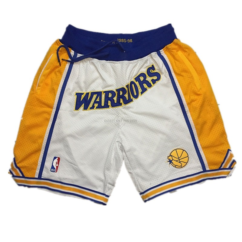 Maillot NBA Pas Cher - Short Basket Golden State Warriors Curry Blanc