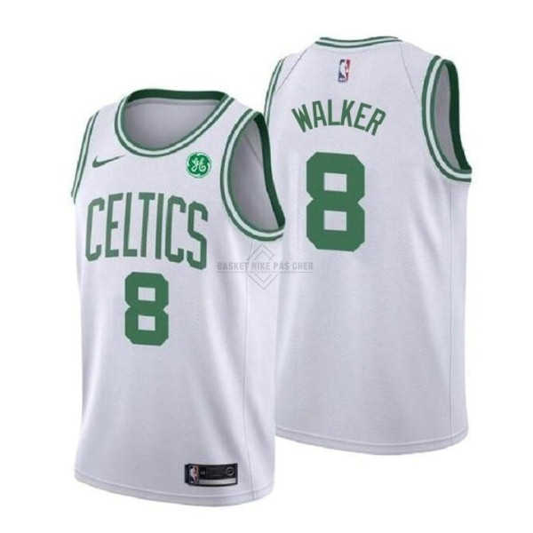 Maillot NBA Pas Cher - Maillot NBA Enfant Boston Celtics NO.8 Kemba Walker Blanc Association 2019-20