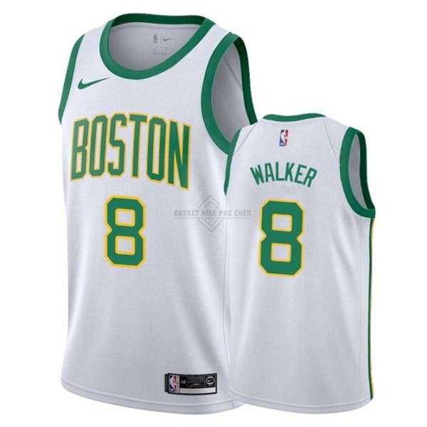 Maillot NBA Pas Cher - Maillot NBA Enfant Boston Celtics NO.8 Kemba Walker Blanc Ville 2019-20