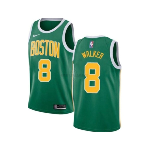 Maillot NBA Pas Cher - Maillot NBA Enfant Boston Celtics NO.8 Kemba Walker Vert Icon 2019-20