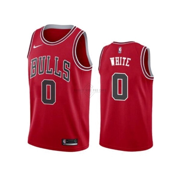 Maillot NBA Pas Cher - Maillot NBA Nike Chicago Bulls NO.0 Coby White Rouge Icon 2019-20
