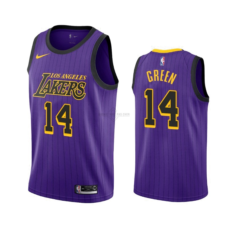 Maillot NBA Pas Cher - Maillot NBA Nike Los Angeles Lakers NO.14 Danny Green Nike Pourpre Ville 2019-20