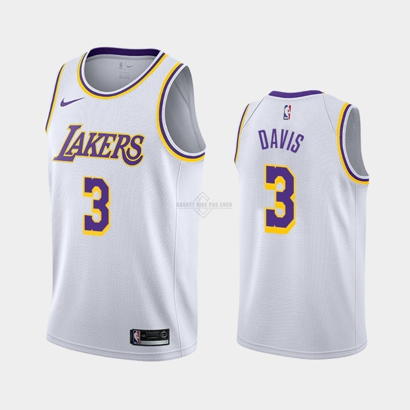 Maillot NBA Pas Cher - Maillot NBA Nike Los Angeles Lakers NO.3 Anthony Davis Blanc Association 2019-20