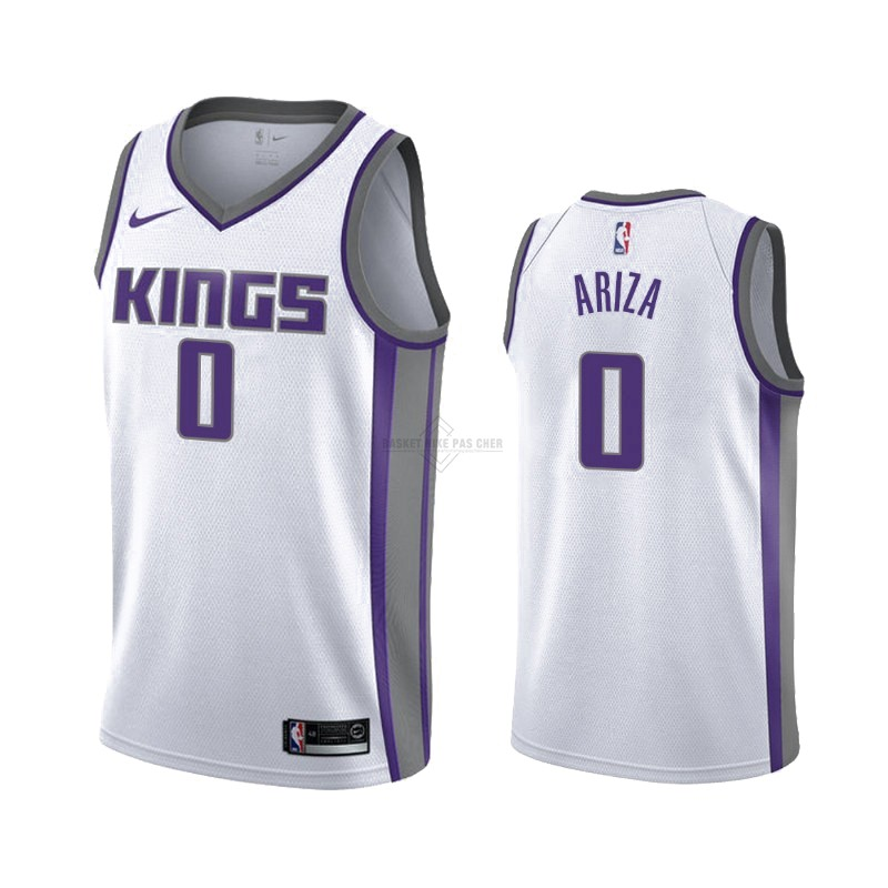 Maillot NBA Pas Cher - Maillot NBA Nike Sacramento Kings NO.0 Trevor Ariza Blanc Association 2019-20