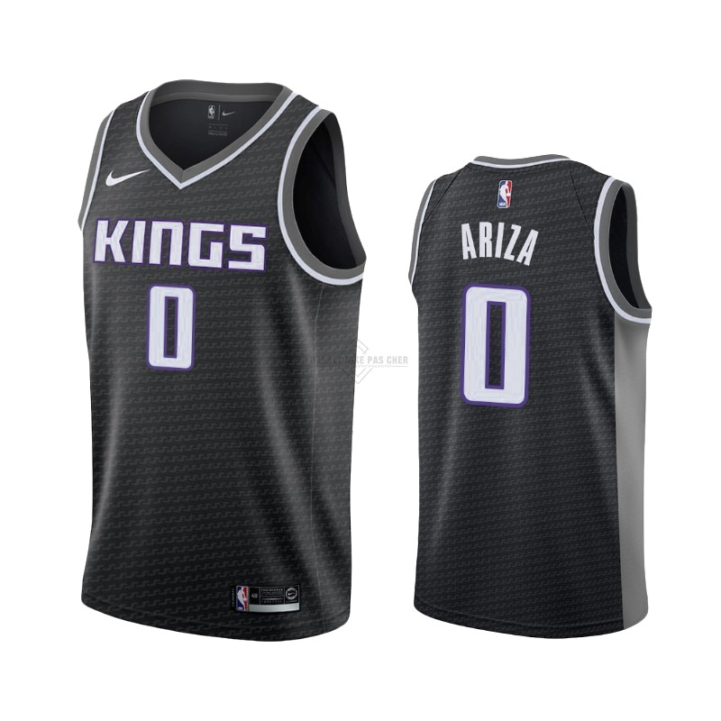 Maillot NBA Pas Cher - Maillot NBA Nike Sacramento Kings NO.0 Trevor Ariza Noir Statement 2019-20