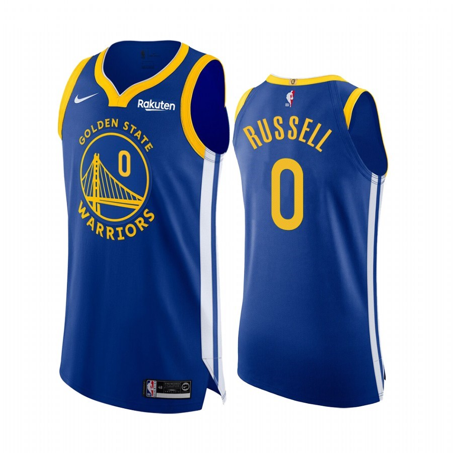 Maillot NBA Nike Golden State Warriors NO.0 D'Angelo Russell Bleu Icon Edition