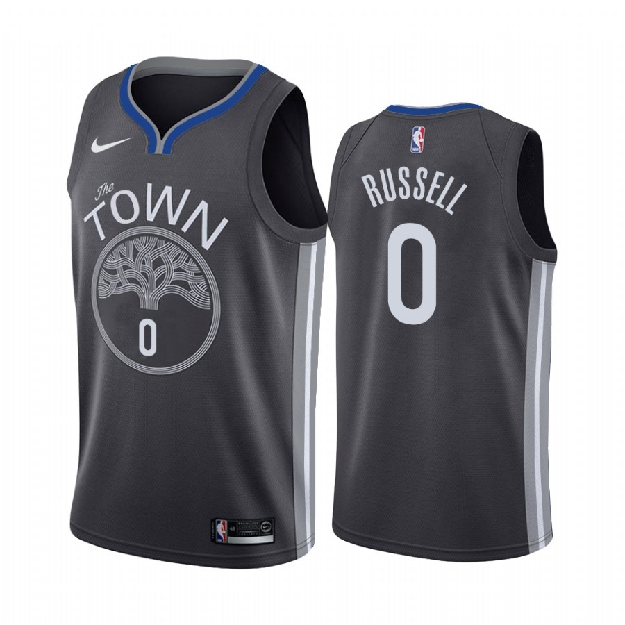 Maillot NBA Nike Golden State Warriors NO.0 D'Angelo Russell Noir Statement 2019-20