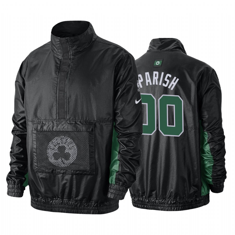 Survetement NBA Boston Celtics NO.00 Robert Parish Noir