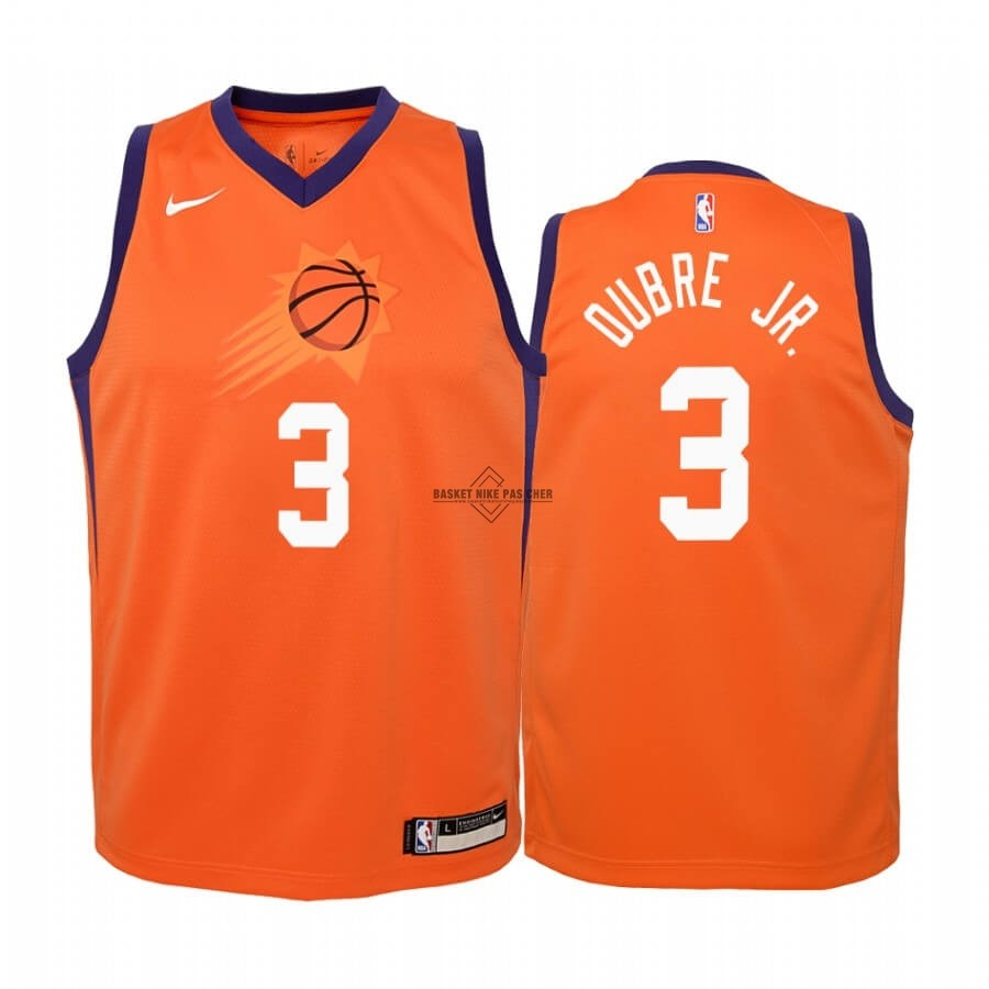 Maillot NBA Pas Cher - Maillot NBA Enfant Phoenix Suns NO.3 Kelly Oubre Jr. Orange Statement 2019-20