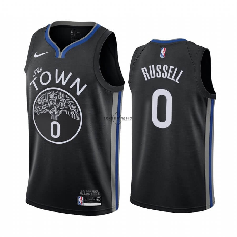 Maillot NBA Pas Cher - Maillot NBA Nike Golden State Warriors NO.0 D'Angelo Russell Nike Noir Ville 2019-20