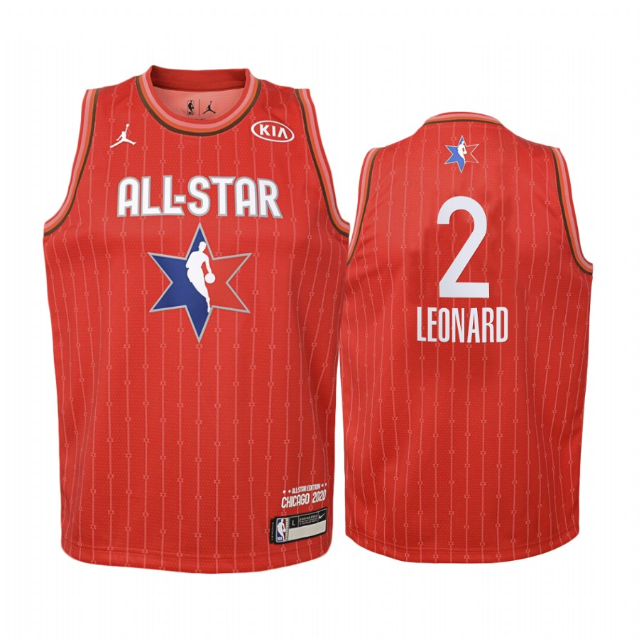 Maillot NBA Enfant 2020 All Star NO.2 Kawhi Leonard Rouge