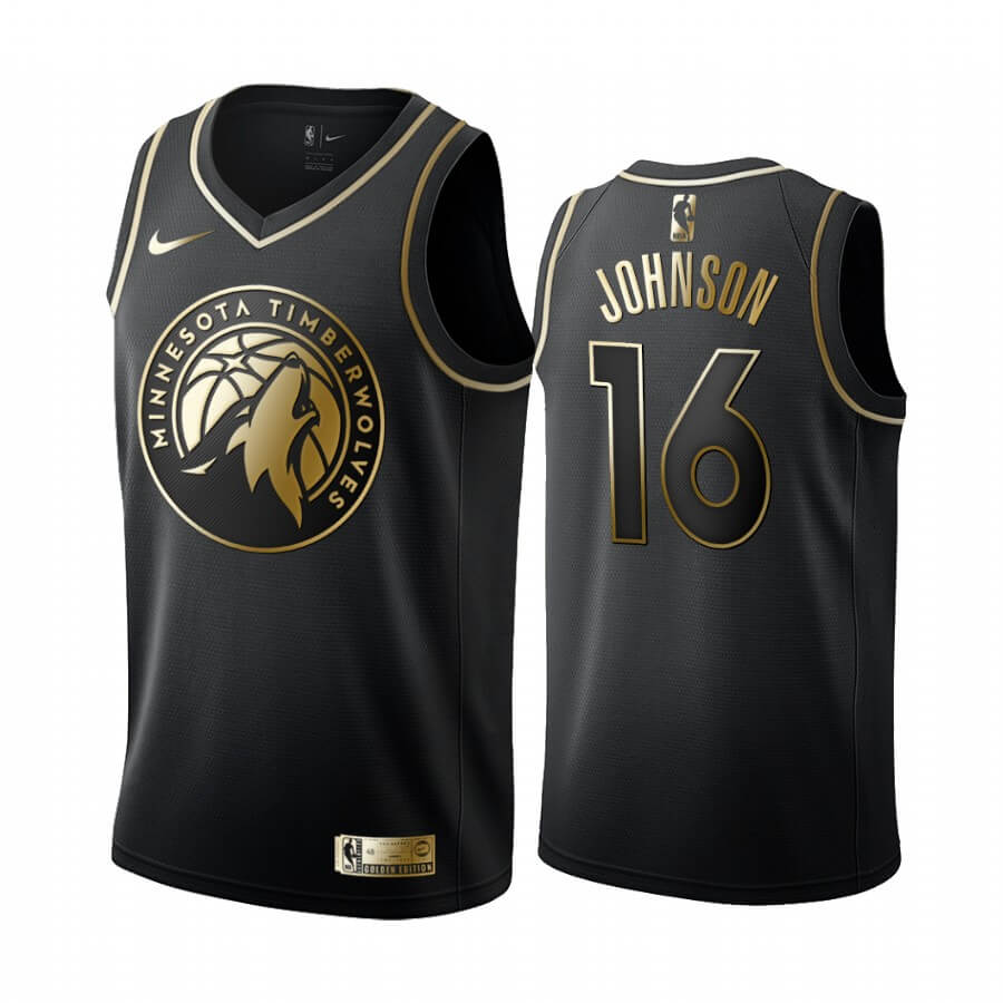 Maillot NBA Nike Minnesota Timberwolves NO.16 James Johnson Or Edition 2019-20