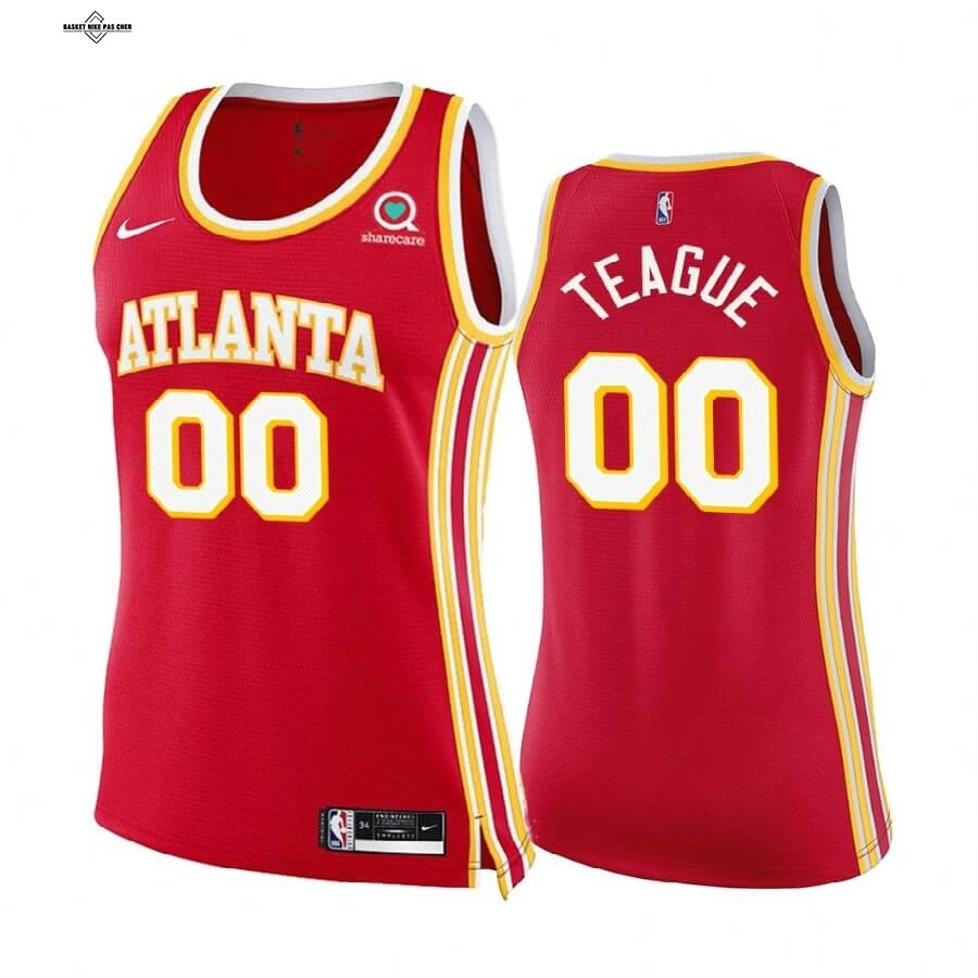 Maillot NBA Pas Cher - Maillot NBA Femme Boston Celtics NO.0 Jeff Teague Rouge Icon 2020-21