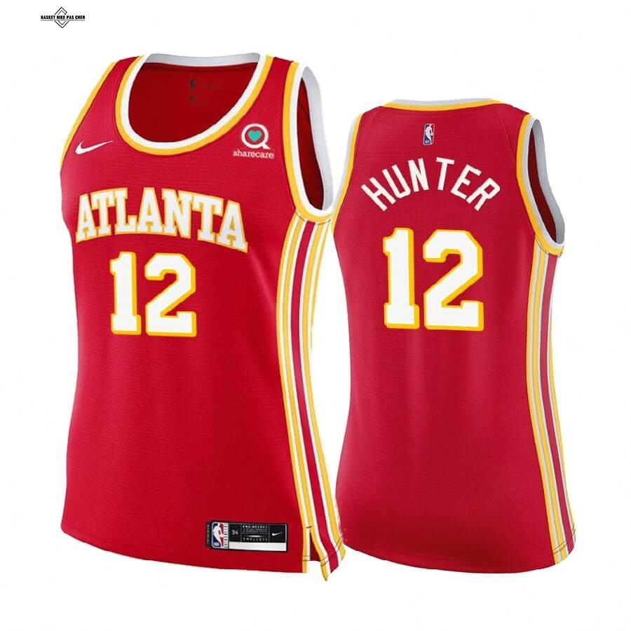 Maillot NBA Pas Cher - Maillot NBA Femme Boston Celtics NO.12 De'andre Hunter Rouge Icon 2020-21