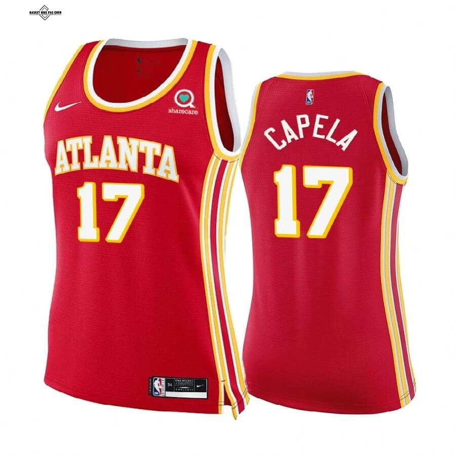 Maillot NBA Pas Cher - Maillot NBA Femme Boston Celtics NO.17 Clint Capela Rouge Icon 2020-21