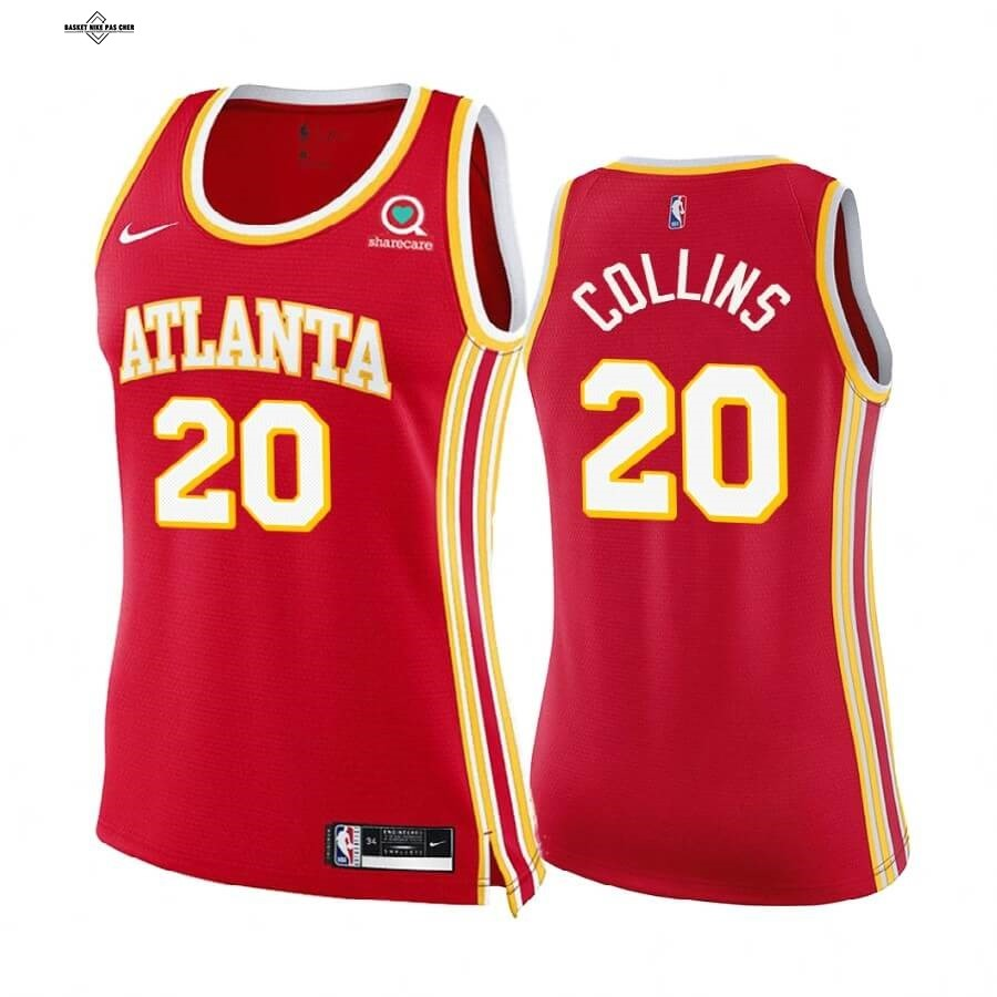 Maillot NBA Pas Cher - Maillot NBA Femme Boston Celtics NO.20 John Collins Rouge Icon 2020-21