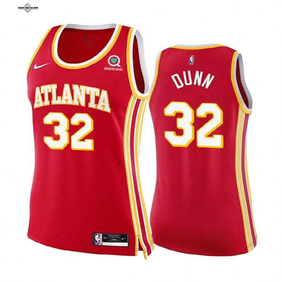 Maillot NBA Pas Cher - Maillot NBA Femme Boston Celtics NO.32 Kris Dunn Rouge Icon 2020-21