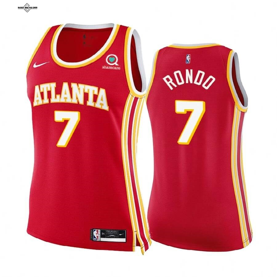 Maillot NBA Pas Cher - Maillot NBA Femme Boston Celtics NO.7 Rajon Rondo Rouge Icon 2020-21